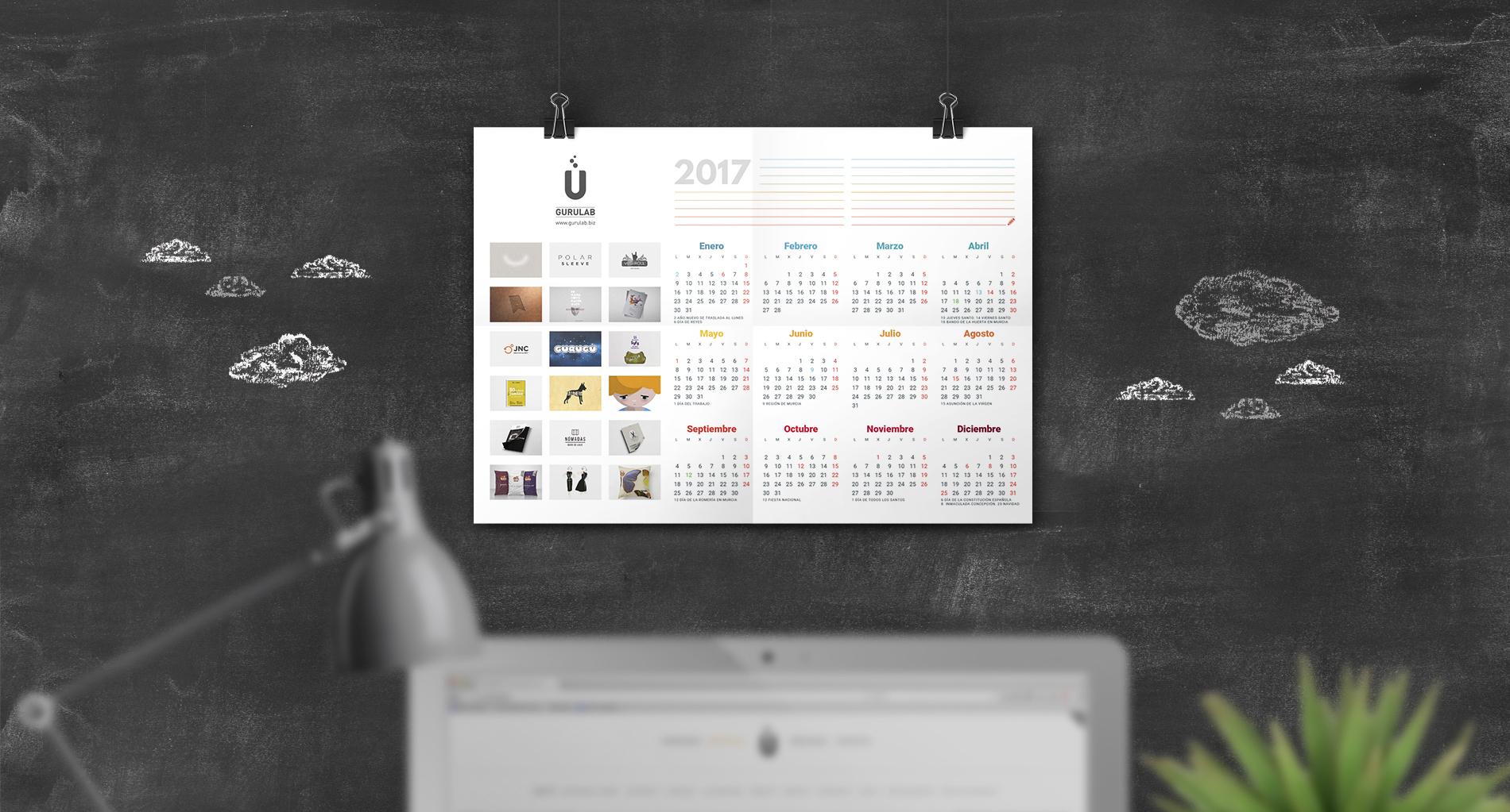 Calendario 2017 Gurulab