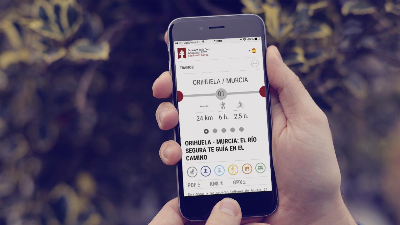 Aplicación web Camino de la Cruz Caravaca