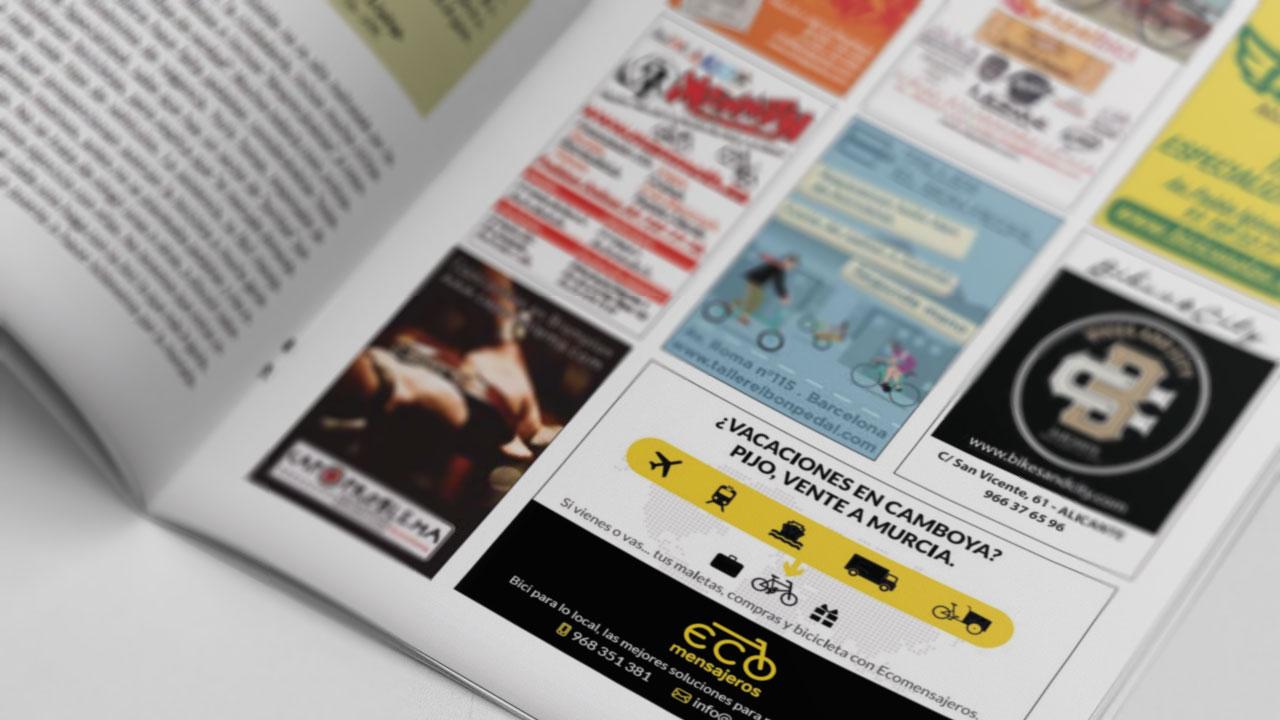 Anuncio de Ecomensajeros para la revista Ciclosfera| Gurulab