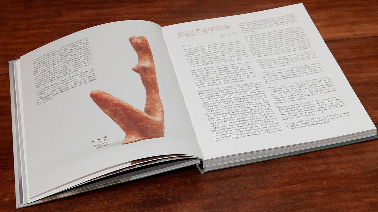 Diseño de catálogo para escultor José Hernandez Cano